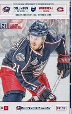 Columbus Blue Jackets Program Montreal Canadiens 2/26/15 James Wisniewski Poster