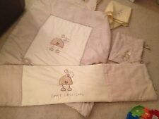 LOLLIPOP LANE SLEEPY LITTLE LAMB NURSERY COT BEDDING SET - Curtains & Lamp Shade