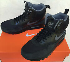Nike Air Max 1 Mid Sneakerboot WP 685267-001 Black Grey Shoes Boots Women's 8.5