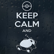 Funny Keep Calm And ZzZz Pokemon Car Decal Vinyl Sticker For Bumper Window Panel