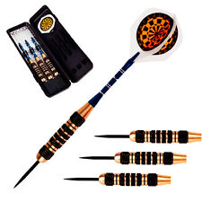 Professional Match Game Black Copper Game Tip Darts Set With Dart Flights&Case