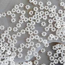 300pcs  silver-tone Daisy Spacers Beads h0230