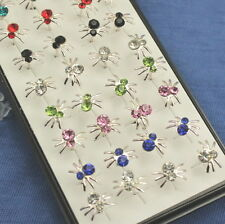 Wholesale 40pcs  925sterling solid Silver spider Stud Earrings Y-80