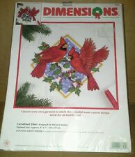 NIP Dimensions Cardinal Duo For Garment 8622 Counted Cross Stitch Kit 1999 USA