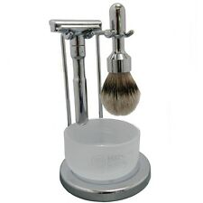 Merkur Futur Shaving Set - Shiny Chrome (751-Shiny-4pc)