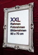 BILDERRAHMEN 90x70 ALTSILBER ANTIK BAROCK ROKOKO FOTORAHMEN WANDDEKO RAHMEN