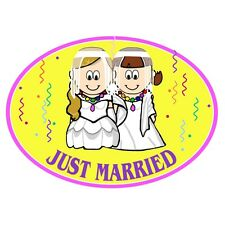 Gay Pride Lesbian Brides Auto or Truck Magnet Euro Design