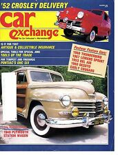 CAR EXCHANGE November 1986(1948 Plymouth station wagon, 1967 Lemans OHC-6 Sprint