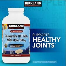 Kirkland Signature Glucosamine with MSM 375 Tablets Extra Strength Joint Health