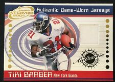 Tiki Barber New York Giants Authentic Game-Worn Jerseys 2001 Pacific Atomic
