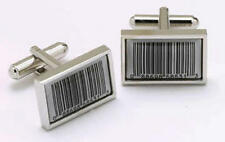 Mens Bar Code Shop Novelty Joke Cufflinks & Gift Box By Onyx Art
