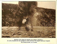 EXPLOSION DYNAMITE BARRIERE DE GLACE ICE RIVIERE ALLEGHANY RIVER IMAGE 1926