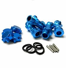 N10163 1/8 M17 17mm Wheel Hex Hub Extension Adapter Alloy Blue x 4 30mm 12mm Cap