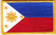 PHILIPPINES FLAG - IRON ON EMBROIDERED PATCH - FLAG OF PHILPPINE ISLANDS