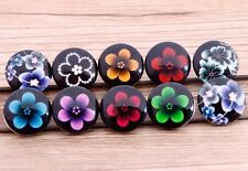 10pcs mix DIY fashion flower chunk snap button fit nosa bracelet hot sell j3772