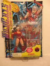 """Jim Lee's Wild C.A.T.S. Zealot 6"""" Action Figure w Special Edition Collector Card"""