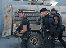 PHOTO EXPENDABLES 2   - JASON STATHAM &  SYLVESTER STALLONE - 11X15 CM # 1