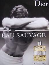 PUBLICITÉ DE PRESSE 2007 EAU SAUVAGE DE DIOR EAU DE TOILETTE - ADVERTISING