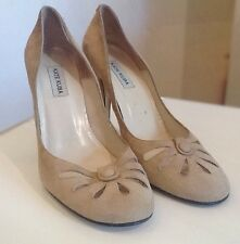 Kate Kuba  Beige Leather/Suede High  Heels Womens Shoes UK 7