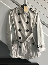 NWT BURBERRY BRIT $850 KERRINGDALE BELTED TRENCH COAT RAIN LIGHTWEIGHT 2 4 36 XS