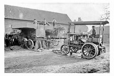 pt5458 - Steam Traction Engine Threshing , Plompton , Yorkshire - photograph