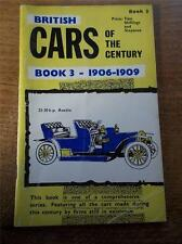 Vtg Booklet BRITISH CARS OF THE CENTURY Book 3 1906-1909 REAL PHOTOS Illustrated