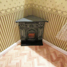 DOLLS HOUSE EMPORIUM BLACK CORNER FIREPLACE,12TH SCALE , NEW