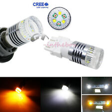 Hi-Power 3157 30W CREE Switchback White/Amber LED Front Turn Signal Light Bulbs