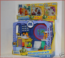 LOT 4- Imaginext MONSTERS University SCARE FLOOR Play Set + 8 Action Figures NEW