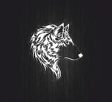 Sticker tuning decal car motorcycles wolf biker  tribal animal tattoo r3
