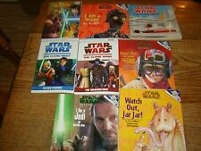8 STAR WARS CHILDREN'S BOOKS - CLONE WARS - NICE CLEAN BOOKS