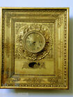 Antique French/Austrian Fancy Picture Gold Color Frame Wooden Clock.