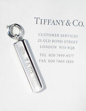 Tiffany & Co Sterling Silver 1837 Bar Ingot Charm ONLY