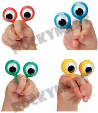(4) Finger Wiggly EYE Puppet Ring SET OF 4 Magic Trick Joke Gag Clown FUN RM1398
