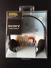 Sony MDR-222KD BLACK -Stereo Headphones/Safe Volume for Child- New - Free Ship