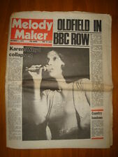 MELODY MAKER 1975 NOV 1 CARPENTERS MIKE OLDFIELD
