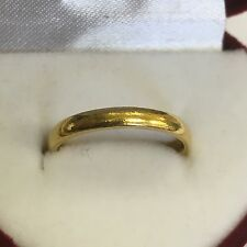 Vintage Solid 22ct Solid Gold Wedding Band / Ring 3.2g Size L 1/2