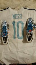 messi adidas ff topsala size 13.5 and shirt xxl