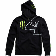 Fox Racing Monster Energy RC4 Ricky Carmichael Zip Hoody Black Green Medium MD
