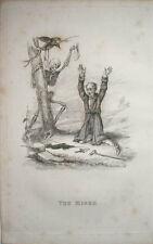 1827 la mort est à regarder les avare & squelette richard Dagley gravure