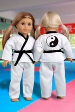 Yin and Yang - Martial Arts Sports Outfit for 18 inch Doll, Karate, Tae Kwon Do