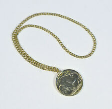 NEW GOLD METAL CHAIN DISCO - PIMP - ROCK STAR 1970s MEDALLION MEN'S FANCY DRESS
