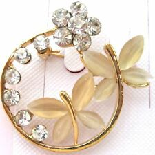 Ladies Romantic Crystal Rhinestone Brooch new