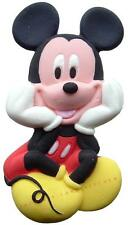 FLAT SUGAR PASTE ICING MICKEY MOUSE BIRTHDAY CAKE TOPPER DECORATION 9cm x 5cm