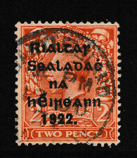 IRELAND, Scott #16b w/R over Se: 2d(I), Used, 1922 Thom Ovpt in Black