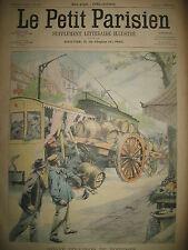 SAINT-OUEN ACCIDENT DE TRAMWAY PRESSOIR-EN-ERQUY TAUREAU LE PETIT PARISIEN 1902
