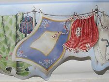 LAUNDRY WASH on the LINE Wallpaper Border 9""