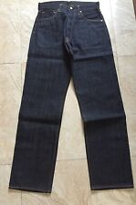 GENUINE EVISU No2 2001 JAPAN RAW BLUE DISTRESSED LOOK  DENIM W32L35 LIMITED