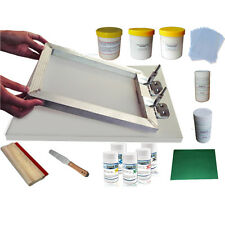 Simple Screen Printing Kit Pallet Butterfly clamp & 5 Colors Pigment & Adhesive