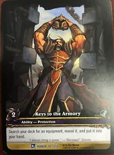 WORLD OF WARCRAFT WOW TCG RARE EXTENDED ART : KEYS TO THE ARMORY
